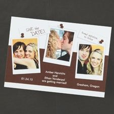 Post the Date - Chocolate -  J.Carlyle #weddings #savethedate #awesome #marriage #photo