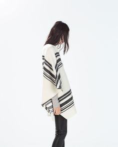 Image 3 of CAPE WITH FRONT OPENING from Zara
