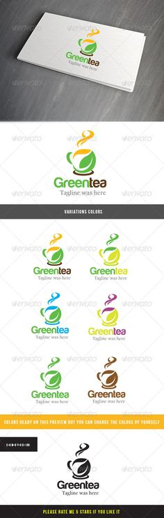 Green Tea Logo #GraphicRiver Usage: Perfect for tea cafe, tea product, medical treatment, relaxing tea care, company that use nature product Fonts: Tag line use footlight mt light font you can download here mafonts /font/f/font-footlight-mt-light-13513.html Logo font harabara font you can download here .dafont /harabara.font Files included: CDR, AI, EPS files please rate if you like it Created: 19January13 GraphicsFilesIncluded: VectorEPS #AIIllustrator #CorelDRAWCDR Layered: Yes…