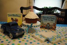 Inspiration for Bird's Little Blue Truck themed Birthday.
