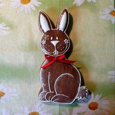 Velikonoční zajíček Easter Cookies, Christen, Gingerbread, Christmas Ornaments, Holiday Decor, Home Decor, Spring, Ideas, Templates