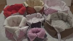 DIY-fabric baskets / I make fabric baskets Craft Work, Easter Crafts, Baby Car Seats, Decoupage, Youtube, Sweet Home, Fabric Basket, Crafty, How To Make