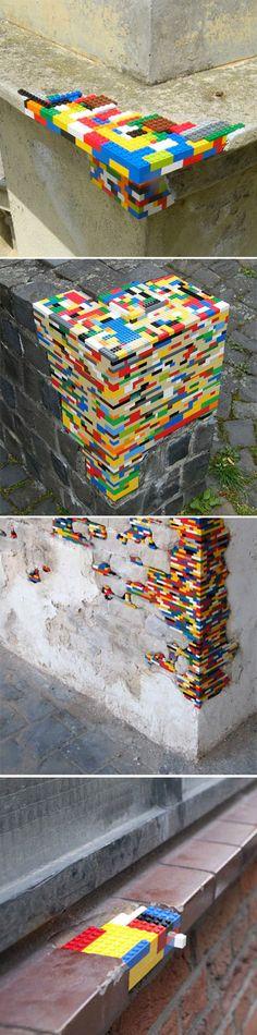 Jan Vormann's Lego interventions