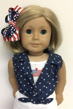 35a282f270a623 18 Doll Clothes fit American Girl Doll 4th of July Doll Clothes Patterns