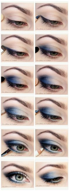 Blues Eyeshadow tutorial Create this look today order your mineral eye pigments HERE https://www.youniqueproducts.com/HelenJewsburybeautifulyou