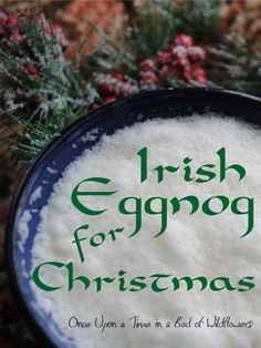 Irish Eggnog is a great treat for holiday gatherings or a quiet Yuletide by the fire.
