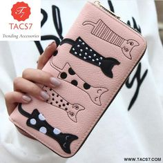 Cheap wallet long, Buy Quality cartoon wallet directly from China ladies clutches Suppliers: New Europe Women Cat Cartoon Wallet Long Creative Female Card Holder Casual Zip Ladies Clutch PU Leather Coin Purse ID Holder Cat Wallet, Coin Purse Wallet, Long Wallet, Cat Purse, Cat Design, Leather Wallet, Pu Leather, Leather Bags, Cartoons