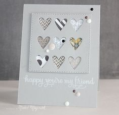 Awesome Card created by Nichol Magouirk using the March 2015 card kit by Simon Says Stamp.