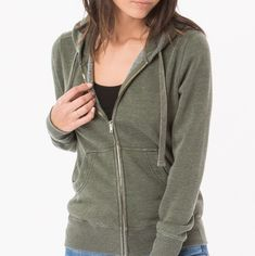 The ultimate fleece zip up hoodie by Z Supply. $67. Tap image to Shop Now #zsupply #hoodie #olive #onehipmom #boutiqueinspringtexas