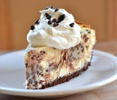 This chocolate chip cookie dough cheesecake is studded with morsels of cookie dough and mini chocolate chips, all atop a chocolatey crust.