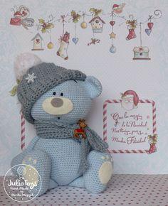 Blue teddy bear crochet pattern