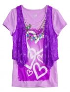 Lace Vest Tee Justice for Girls Renaissance at Colony Park - Preteen Clothing Preteen Girls Fashion, Teenage Girl Outfits, Girly Outfits, Trendy Outfits, Kids Fashion, Cool Outfits, Teenage Clothing, Clothing Ideas, Cute Tops For Girls