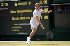 David Goffin during his fourth round match. Jon Buckle/AELTC Wimbledon 2015
