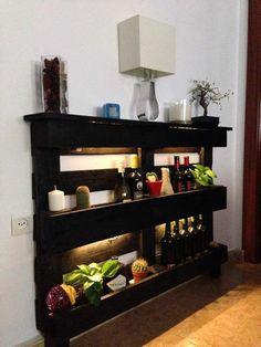 Muebles hechos con palets. Idea de José Manuel.