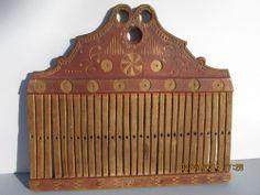 Rare Antique Primitive Decorated Weavers Loom Comb- Dated 1835 AAFA #NaivePrimitive