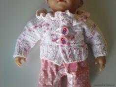 Kissankäpälä: Villatakki nukelle, cardigan for a doll