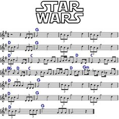 "Star Wars ""main title"" by John Williams, cicrca Funny, its kinda like ""Born free"" played inverted. Trumpet Sheet Music, Saxophone Sheet Music, Violin Music, Piano Songs, Piano Sheet Music, Music Songs, Indie Music, Violin Lessons, Music Lessons"