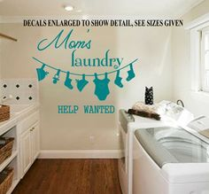 Moms Laundry Help Wanted Wall Art Sticker Vinyl Decal Various Sizes Sticker Vinyl, Wall Decals, Bird Wall Art, Help Wanted, Smooth Walls, Beautiful Wall, Vinyl Designs, Home Collections, Decorating Your Home
