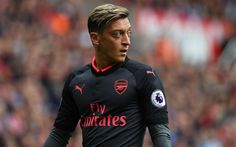 Download wallpapers Arsenal, Mesut Ozil, football stars, match, footballers, The Gunners