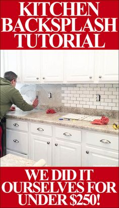 kitchen backsplash STEP BY STEP tutorial