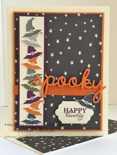 Heather's Pages: Spooky Sweet - Wickedly Sweet Sep 2015 Paper Pumpkin Kit - Happy Haunting DSP - Seasonal Frame Thinlits - Lots of Labels Framelits
