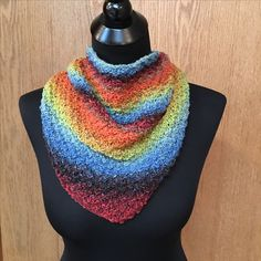 My favorite Bandito scarf. This is a free Ravelry pattern designed by Knitterly Anne