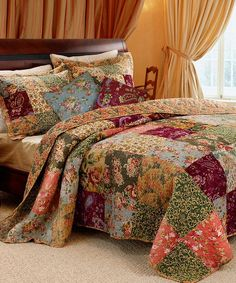 Take a look at this Alberta Cabin Five-Piece Reversible Quilt Set today!