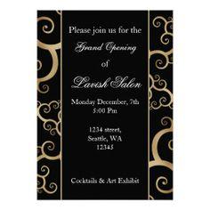 13 best invitation cards images on pinterest invitation cards elegant black gold corporate party invitation stopboris Images