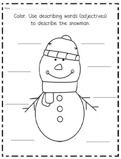 Winter/snowman writing and literacy printables $