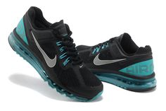 Mens running shoes Nike Air Max 2013 Black Reflective Silver Sport Turquoise 554886 003