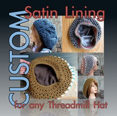 CUSTOM Satin Lining for any Threadmill Hat - Satin Liner ONLY on Etsy 22795bea69c9