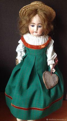 Одежда для кукол ручной работы. Ярмарка Мастеров - ручная работа. Купить  Сарафан для антикварной куклы 60 см. Handmade. Винтаж 4be7a8cd94c