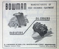Advertisement from 1951. Do people have older ones? Would love to put them to our collection. You can forward them to: info@ejbowman.co.uk  Check out the Telegram and Telephone details. How many of you remember this?