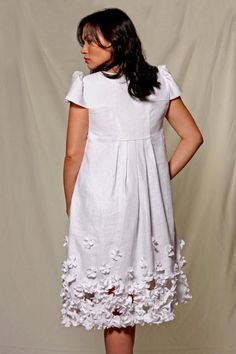 White Orchid Linen Dress