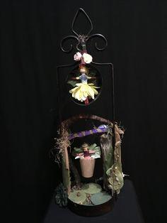 Fairy Doors, Fairies, Dawn, Etsy Seller, Candles, Christmas Ornaments, Create, Holiday Decor, Artist