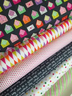 Sealed With a Kiss fabric bundle by Robert Kaufman and Fabric Shoppe - Fat Quarter bundle, 6 total by fabricshoppe on Etsy