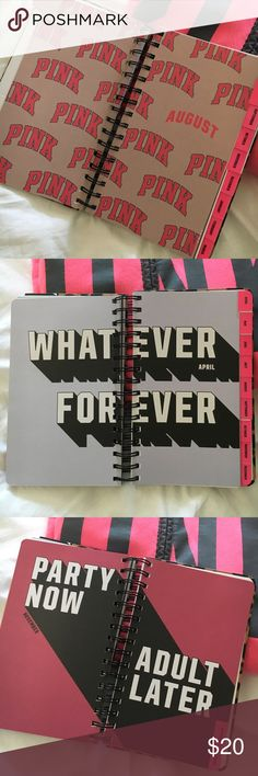 New 2018 PINK planner 2018 Agenda book. All new PINK Other