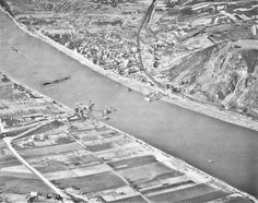 The Remagen Bridge site - photo taken in 1948