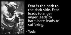 fear is the path to the darkside