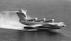 Ekranoplan. The Caspian Sea Monster -  that uses ground effect to travel at high speeds over the water