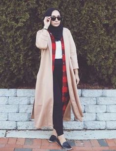 long jacket hijab street style, Hijab chic from the street http://www.justtrendygirls.com/hijab-chic-from-the-street/