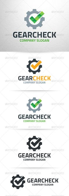 The Gear Check Logo TemlateA modern logo template for gear ac5a36bdf3f69