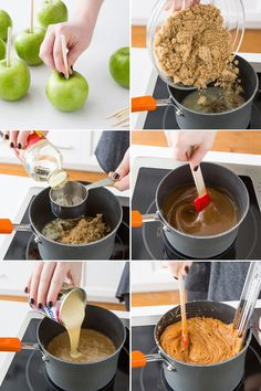 DIY candy apple recipe is easy to make and something you can make with friends and family. This step-by-step guide will help you make the perfect candy apple! (desserts with apples cooking) Candy Recipes, Fall Recipes, Dessert Recipes, Apple Desserts, How To Make Caramel, How To Make Candy, Making Caramel, Candy Making, Gourmet Apples
