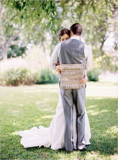could be the most precious wooden wedding sign we've seen?