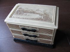 Vintage Oriental Asian Jewelry Box Chest