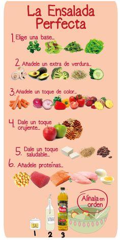 Cómo hacer la #ensalada perfecta #truco #receta #saludable