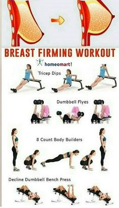 Full Body Gym Workout, Back Fat Workout, Gym Workout Tips, Fitness Workout For Women, At Home Workout Plan, Workout Videos, Breast Lift Workout, Gym Workout For Beginners, Health