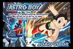 Convite digital personalizado Astro Boy 002