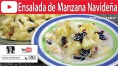 ENSALADA DE MANZANA NAVIDEÑA | Vicky Receta Facil HD