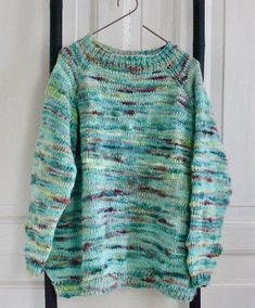 Forårssweater i aquafarver - susanne-gustafsson. Drops Design, Men Sweater, Knitting, Sweaters, Inspiration, Women, Diy, Fashion, Threading